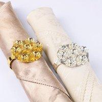 Корейская версия Crystal Diamond Diamond Salfkin Ring Upscale EL Свадебная вечеринка Украшения Домашнего Украшения Пряжка Сервутный Кольца
