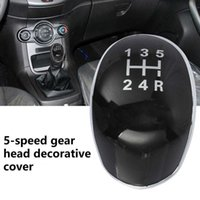 Car Portable Excellent 5 Speed Gear Knob Trim Stable Shift Lever Knob Cover Decorative