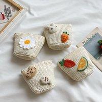 사랑스러운 아기 소녀 미니 크로스 바디 가방 태양 꽃 빨 대 어린이 동전 지갑 핸드백 귀여운 만화 공주 작은 어깨 가방