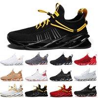 Discount NON-Marque Hommes Femmes Running Shoes Chaussures Blade Slip sur Triple Noir Blanc Blanc Red Gris Terracotta Warriors Mens Gym entraîneurs Sports sportifs en plein air
