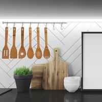 Spoons 6PCS Wooden Spoon Home Kitchen Cooking Spatula High Temperature Cookware Set Perfect Tool For Polishing Non-stick