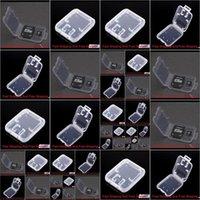 Boîtes Bins Organisation de ménage Accueil Jardin Drop Livraison 2021 Titulaire de la mémoire Transport de stockage pour la carte TF Plastique Standard SD SDHC Box CA