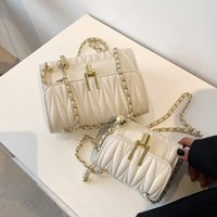Bag women 2021 Korean textured women's One Shoulder Messenger Fashion Chain Handbag