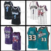 Vince 15 Carter Basketball Jersey Grant 33 Colina Reggie 31 Miller Retro Penny Homens Hardoway Jerseys Tracy 1 McGrady Mesh