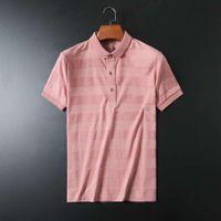 Color curto maciço homens camisetas Stripe polo busins paul camisa meio sve avant-garde moda bonito 1