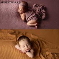 Big Dimensioni infantili Baby Pografia Backdrops Coperte di colore solido Sfondo Forte Stretch Wraps Swadle Unisex PO Coperte di stoffa PO SWADDLI SWAD