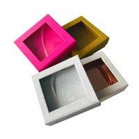 False Eyelashes Wholesale Packaging Rectangle Pink Boxes Faux Cils Strip Diamond Magnetic Case Eyelash Care Box Without