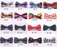 Pantaloni di prua varietà di stili stampa del fumetto Scuola dei bambini Bowtie Bambini Partito di nozze Party di nozze Accessori Abbigliamento Bow Maid BD07 VGM1 VGM1