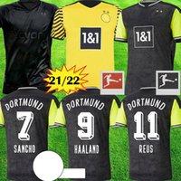 1990 한정판 Haaland Reus Borussia Bellingham 4th Dortmund 축구 유니폼 특별 2020 2021 축구 셔츠 20 21 Sancho Brandt Plszczek Kit 남자 아이들 유니폼