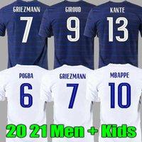 Hombre + niños 2021 griezmann mbappe fútbol jersey kante pogba 20 21 centenario giroud camisa maillot de fútbol francia zidane matuidi kimpembe ndombele thauvin 100th
