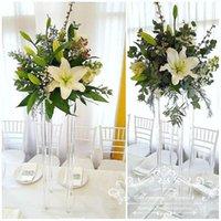 파티 장식 80cm (H) 결혼식 크리스탈 테이블 중심가 광장 꽃 스탠드 소박한 장식