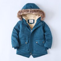 Teenager New Winter Jackets For Boys Clothes Long Sleeve Hooded Girls Coats Children Clothing Baby Coat Fur Warm Kids Outerwear 1195 X2