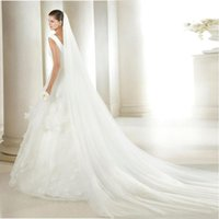 Bridal Veils Wholesale Wedding Accessories 3 Meters 2 Layer Veil White Ivory Simple With Comb