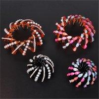 Rhinestone imitazione perla capelli anello superficie liscia per forcine per capelli zirconi donne fashion bands accessori gioielli conveniente 4 7yy N2