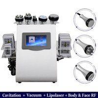 6 in 1 Vacuum Laser Radio Frequency RF 40K Cavitation Lipo Body Slimming Ultrasonic Liposuction Cavitation Machine Skin Lifting