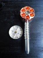 담배 파이프 금속 분쇄기 파이프 6 슈팅 게임 2 조각 스테인레스 스틸 흡연 파이프 및 허브 그라인더 고품질 토로 글라스트 샵
