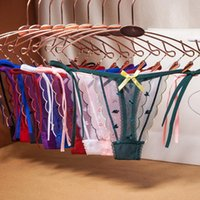 Women's Panties Women Sexy Lace Lingerie Hollow Mesh Low Waist Intimates Underwear Thongs Female Thin Belt G-string Erotic Knickers Briefs