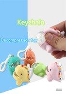 Decompression Fidget Toys Fun Software Dinosaur Key Chain Child Adult Finger Slimy Anti-stress Creative Sensory Toy Gift