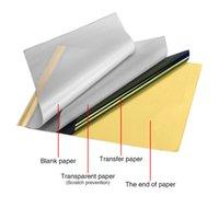 Dövme Stencil Transfer Kağıdı Ruh Termal Karbon İzleme Özel Kalite 100 Levhalar Dövme Termal Stencil Transfer Kağıdı Kaynağı