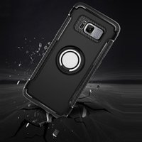 TPU PC 2 in 1 Shockproof Cases for OPPO R9S plus A73 A83 F7 A3 A5 A7x with Ring design Iphone XS XR XSmax 11 12 Mobile phone protective case