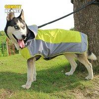 كلب الملابس cawayi بيت الكلب صغير كبير معطف واق من المطر ماء ملابس عاكسة في سترة معطف المطر سترة المطر المعطف