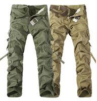Işçi Noel Yeni Erkek Rahat Ordu Kargo Camo Savaş Çalışma Pantolon Pantolon 6 Renk Boyutu 28-38