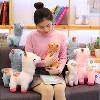 Mascotte natale natale Squinted Alpaca Peluche Peluche Per Bambola Bambola per bambini Pecore Pillow Regalo di San Valentino