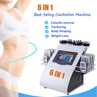 6 In 1 Body Fat Loss 80K Cavitation Slimming Machine with 130mw Diode Laser Pads 40Khz Cavitation 5Mhz Rado Frequency