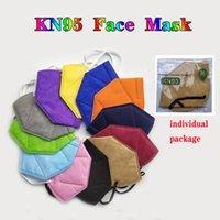 KN95 Máscara Multicolor Poeira - Prova 5 Camadas de Proteção 95% Filtração Máscara Rosto Não-tecido Tecido Preto KN95 Face Masks