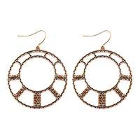 Vintage Ethnic Big Round Bronze Earring Women Bohemian Flower Tassel Geometric Water Drop Earrings Jewelry