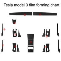 ل Tesla نموذج 3 موديل x s الداخلية لوحة التحكم المركزية لوحة مقبض الباب ألياف الكربون ملصقات الشارات سيارة التصميم الملحقات