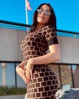 Delle Donne Abiti Casual Classic Knit Dress Moda Modello Summer Manica Corta Abbigliamento da donna di alta qualità