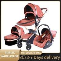 Designer Luxury Stroller 3 em 1 bebê Portable Pram Lightweight Alto Paisagem Transporte de Quadro de Alumínio para Puttherchair Kid Car Nascido