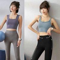 Kadın Yoga Sutyen Gömlek Spor T Gömlek Push Up Yelek Spor Koşu Spor Salonu T-Shirt Tankı Seksi Iç Çamaşırı Cami Katı Renk 12 N46D #