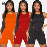Women's Tracksuits YEYA Sports Fitness Two Piece Suits O Neck Sleeveless Open Back Lace Up Crop Top And Pants Skinny Casual Party Outfit