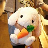 Милый фаршированный кролик плюшевые мягкие игрушки кролика дети подушка кукла творческие подарки для детей младенца сопровождают игрушку спать 22/22/43CM G0913