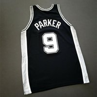 Özel 009 Gençlik Kadın Vintage Tony Parker 911 Yama - Duncan Koleji Basketbol Forması Boyutu S-4XL veya özel herhangi bir isim veya numara forma