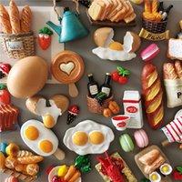 Buzdolabı Mıknatıslar 5 Alın 1 Taklit Mutfak Dekorasyon Simülasyon Süt Yumurta Ekmek Buzdolabı Manyetik Çıkartmalar