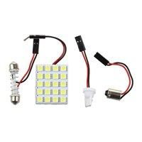 20-SMD-5050 LED لوحة ضوء متوافق مع سيارة الداخلية خريطة قبة جذع منطقة ضوء، زينون أبيض السيارات الداخلية القراءة سقف ميزة لمبة مصباح T10 BA9S محول