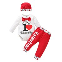 Clothing Sets Baby Girl Boys Clothes Set Undefined Outfits Cotton Long Sleeve Letter Rompers Top Pants Hat Ropa