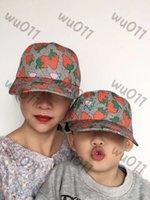 높은 qualiclassic 편지 딸기 양동이 모자 성인과 어린이 유명한 면화 조절 가능한 두개골 스포츠 골프 곡선 인쇄 야구 모자