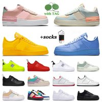 Nike Air Force 1 Shadow Airforce One AF1 Des Chaussures de course pour femmes pour hommes Max Airmax Airforces Dunks Off White Dunks Gold Mca What The Crimson Tint Baskets