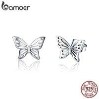 Коллекция насекомых для насекомых Bamoer 925 стерлингового серебра стерлингового серебра изысканные серьги для женщин ювелирные изделия SCE452