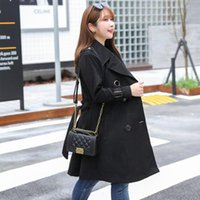 To 8XL Plus Size Trench Coats Female Velvet Suit Turn Down Collar Cardigan Outerwear Long TA7122 Women's