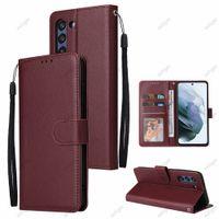 Portafoglio PU Leathe Telefono Custodie con slot per schede Photo Frame Stand per Samsung Galaxy J8 J7 J6 J5 J4 J4 J3 J2 Prime A9 A8 A7 A6 Plus Copertura custodia