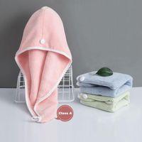 Towel Women Girls Shower Hair Hat Turban Microfiber Dry Cap Water Absorbent Quick-drying Bathroom Head Wrap Towels
