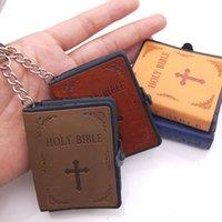 Jóias religiosas Cross Pingente Mini Couro Pequeno Bíblico Pingente Chaveiro