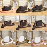 2021 Frauen Luxurys Designer Taschen Frauen Crossbody Bag Original Handtaschen Geldbörsen Lady Tote Münze Geldbörse Drei Artikel # 8811