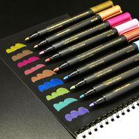 Marcatori 12 Colore Penna in metallo Set Metal Color Water FAI DA TE Photo Album Penna Graffiti