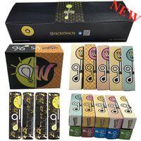 Glo Waferz Vape Cartridge Packaging Atomizer Empty Vapes Pen E-Cigarettes Vaping Carts 0.8ML 1ML 510 Ceramic Cartridges Oil Vaporizer 10 strains with display box